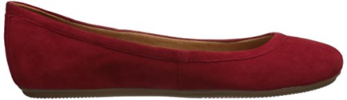 Red Women's Flat Brittany Ballet Naturalizer Y1SFgqxY