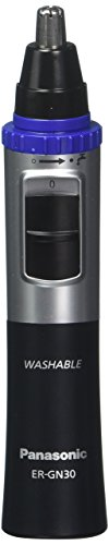2 pack Panasonic ER-GN30-K Nose, Ear n Facial Hair Trimmer Wet/Dry with Vortex Cleaning System, Black (Best Nasal Hair Trimmer Uk)