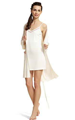 Insun - Camisón - para mujer Milk White