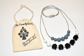 Baby Teething Nursing Necklace for Mom to wear Silicon Teeth