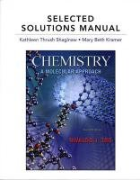 selected solutions manual for chemistry a molecular approach rh amazon com Solution Biology chemistry a molecular approach 4th edition solution manual