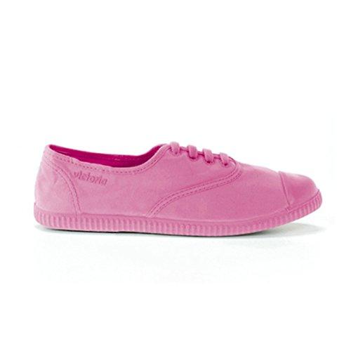 Victoria Womens Inglesa Tintada Monocromo Låg-top Spets Duk Mode Sneaker Chiclegummi