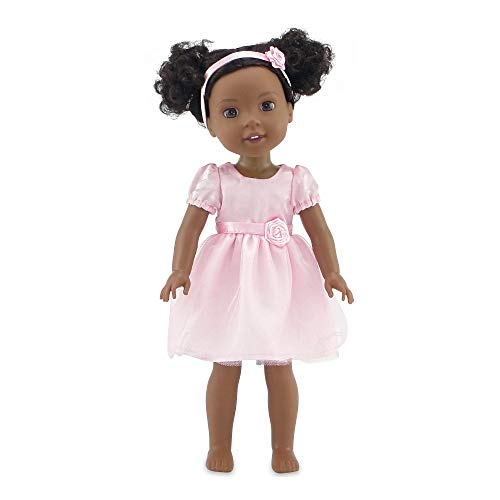 (Emily Rose 14 Inch Doll Clothes | Pink Easter Doll Dress with Rosette Headband | Fits 14
