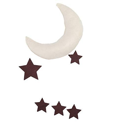 e - Room Trinket Clouds Raindrop Moon Star Felt Cloth Ornaments Kids Play Hanging Decoration - & Felt Garland Wind Wall Bed Feng Felt Felt Tassel Cloud Fish Pink Rabbi ()