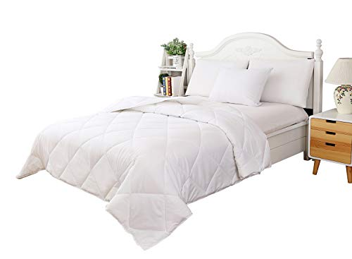 "YGJT Comforter Set Duvet Insert Reversible Down Alternative All Year Bedding with Corner Tabs Lightweight Twin 66""x 90"" ,Includes: 1 Comforter +1 Sham"