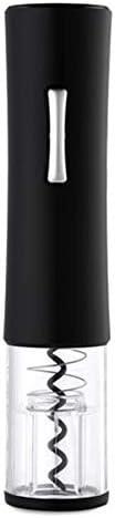 REFURBISHHOUSE 自動コークスクリュー 電気ワインオープナー 家庭用環境 ABS赤ワインアッパー 5番目のバッテリー ワインボトルオープナー ブラック