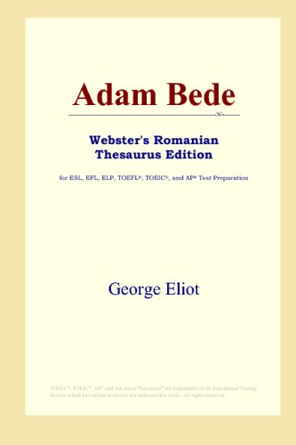 Adam Bede Websters Romanian Thesaurus product image