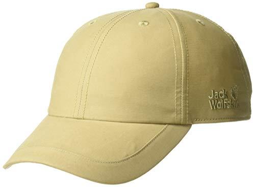 Jack Wolfskin Unisex El Dorado Recycled Cotton-Blend Baseball Cap, Sand Dune, One Size