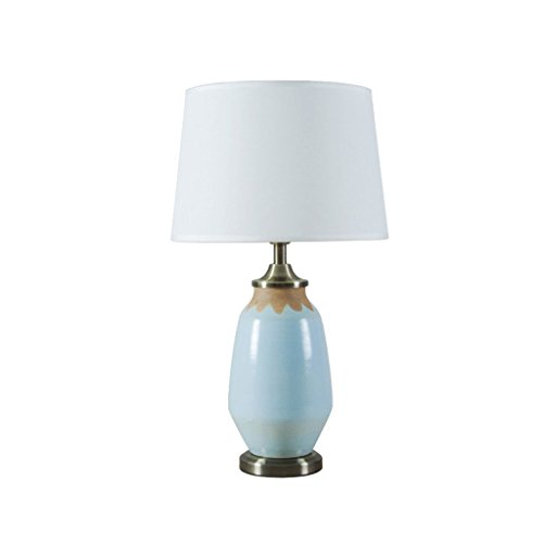 TIANTA-Light American Retro Ceramic Table Lamps Blue Modern Simple Living Room Bed Bedside ( Color : B ) by WEEDAY