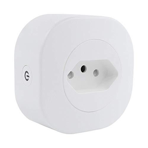 Adaptador de Tomada Inteligente 10A, Wi-Fi, Aplicativo, Bivolt, HI by Geonav, compatível com Alexa
