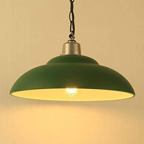 Glighone Lámpara de Techo Lámpara Industrial 40W Luz Vintage Luz Colgante de Pantalla de Metal Estilo Rústico Casquillo E27 No Incluye Bombilla para ...