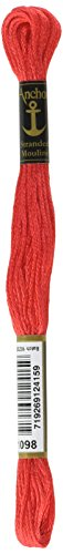 Crimson Embroidery - Anchor Six Strand Embroidery Floss 8.75 Yards-Crimson Red Light 12 per box
