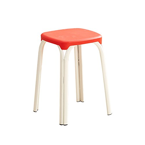 Stool - plastic stool/thick adult household table high stool/fashion small chair/modern minimalist living room high stool (multicolor optional) 4528.528.5cm (Color : 4) by StoolStool