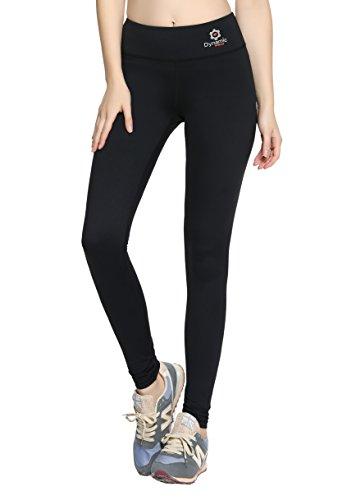 Premium Women Compression Pants w/ HIDDEN Pocket - Tights, Leggings, Running, Yoga, Gym (Large)
