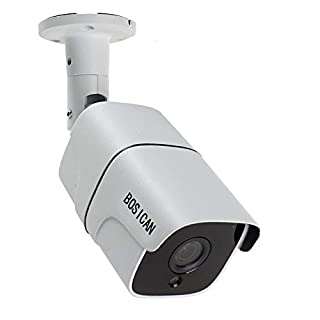 BOSICAN 1080P 1920TVL Bullet Security Camera, 2.0 Megapixel Hybrid HD 4-in-1 TVI/CVI/AHD/CVBS Waterproof Outdoor Surveillance Camera (WHITE-1080P 4 in 1 Bullet camera-622)