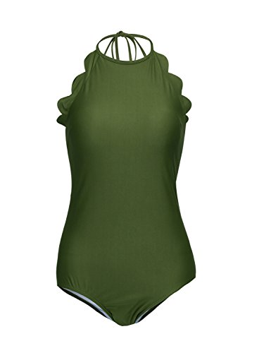 Choies Swimsuit Backless Scallop Bathing