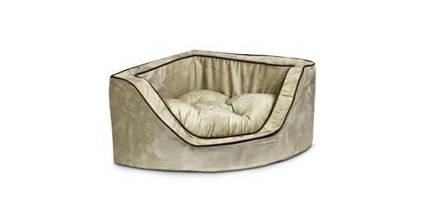 Amazon.com: Lujo esquina cama mascota – large-shona granite ...