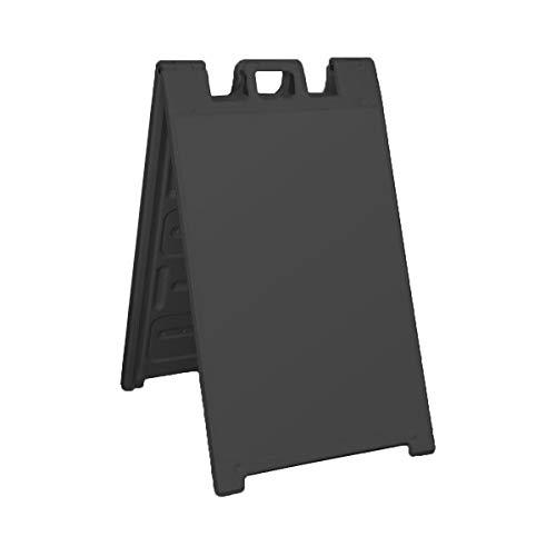 Plasticade Signicade Portable Folding A-Frame Sidewalk Sign - Black ()