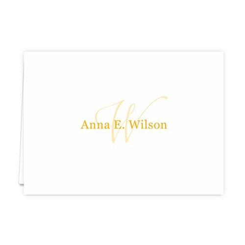Monogramed Notecard Foldover Personalized Stationery - Set of 12 - 12 plain, white envelopes Photo #3
