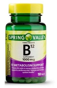 Spring Valley - Vitamin B-12 1000 mcg, Timed Release, 150 Tablets (Spring Valley B Vitamin)