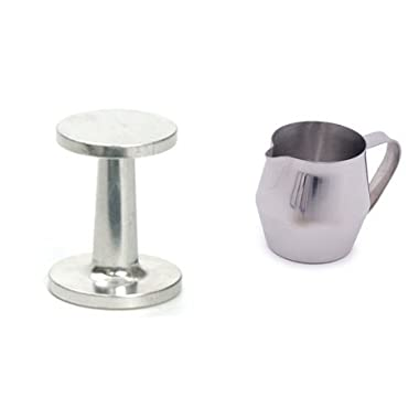 RSVP Tamper and Endurance Espresso 10oz Stainless Steel Frothing Steaming Pitcher
