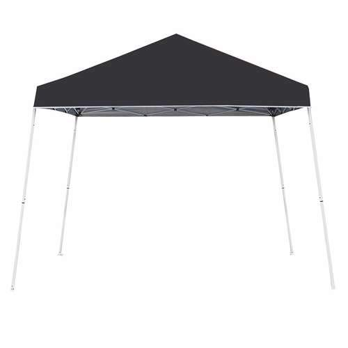 Z-Shade 10x10 Angled Leg Instant Shade Canopy Tent Shelter, Black (Open -