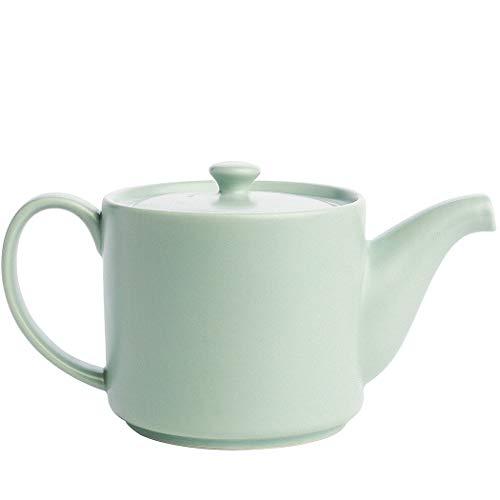 The Tea Spot Short Stack Teapot - Loose Leaf Tea Teapot Infuser, Brew Tea, Steepware, Morning Sky