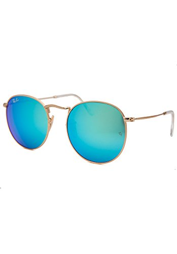 Ray-Ban Round Flash Sunglasses Blue Reflective Lens - - Reflective Bans Ray