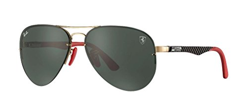Ray-Ban Men's 0rb3460mf0087159metal Man Aviator Sunglasses, Gold, 59 - Ferrari Ban Ray