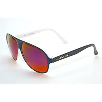 0c057f165a6 Official BluBlocker Navy Blue White Aviator Sunglasses with Blue Mirror Lens