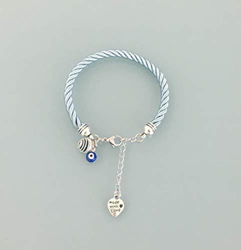 taglia 40 d829a f5b05 Braccialetto blu con pendente greco, gioielli, bracciale ...