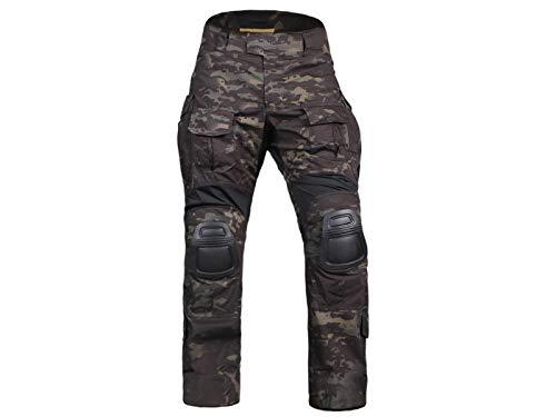 Homme Tenues de Combat Pantalon Militaire Gen3 Pantalons de Tactique et Genouillères Multicam Black 1