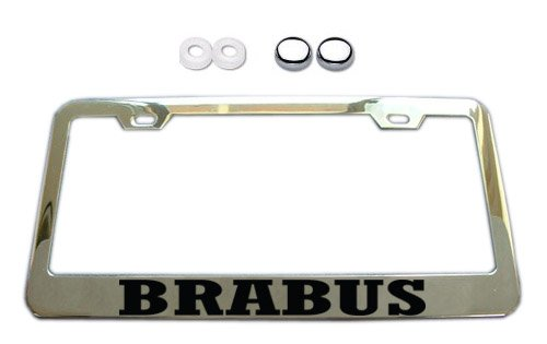 brabus-chrome-license-plate-frame-w-screw-covers