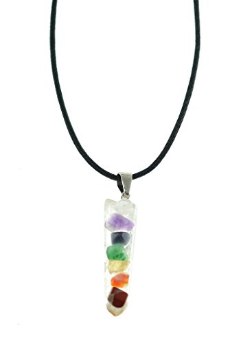 Women's Spiritual Chakra 7 Crystals & Semi-Precious Stones Yoga, Reiki & Healing Pendant Necklace Crystal Stones