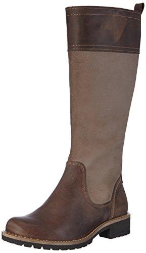 de Marrón Ecco Ecco Alto Cocoa de Elaine Stone59360 Brown Cuero Caño Mujer Botas wFAxYazF