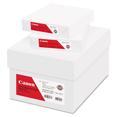 Two Sided Coated Paper - Canon Coated Two-Sided Gloss Text Paper, 8-1/2 x 11, 100 lb., WH, 500/Ream, 6 Reams/CT - 1128V743