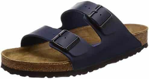 Birkenstock Unisex Arizona Navy Birko-flor¿ Sandals - 10-10.5 D(M) US Men