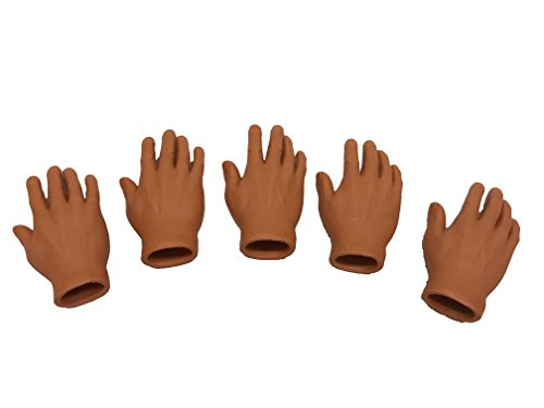 Accoutrements Finger Hands /& Feet Dark Skin Tone Finger Puppet Set!