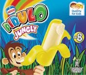 Pirulo Jungly Banana, Helado Sabor a Plátano - Paquete de 8 x Helados