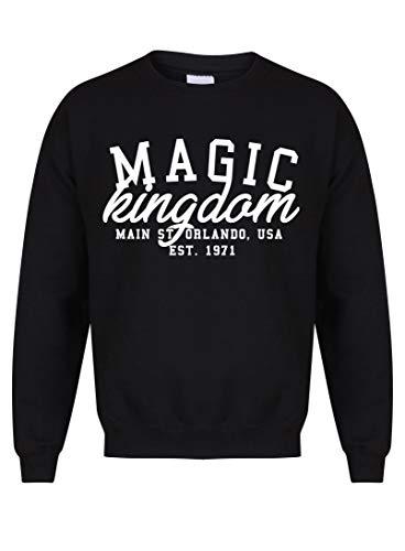 Kelham Print Unisex Slogan Sweater Jumper Magic Kingdom Black Large with White]()