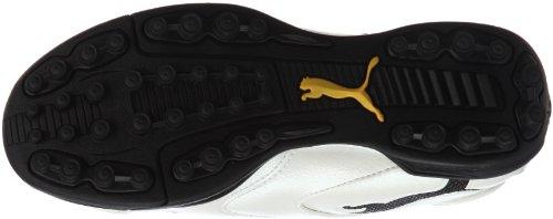 Puma, Scarpe da calcio bambini WHITE-BLACK-TEAM YELLOW