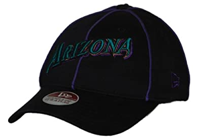Arizona Diamondbacks New Era 39 Thirty Flexfit Black Purple Hat Cap