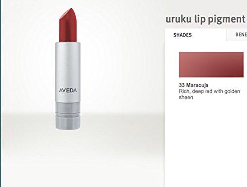 Aveda Lip Color (AVEDA Uruku Lip Pigment Lipstick Rich Deep Red w/Golden Sheen #33)