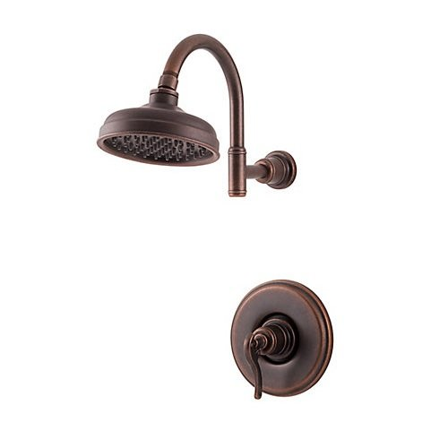 (Pfister LG897YPU G89-7YPU Ashfield Single Handle Shower Trim, Rustic Bronze)