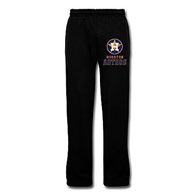 Wesley Houston Astros Men's Cool Fleece Sweatpants Black