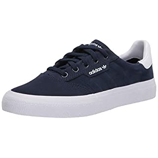 adidas Originals Men's 3MC Regular Fit Lifestyle Skate Inspired Sneakers Shoes, Collegiate Navy/ftwr White/Gum, 4 M US