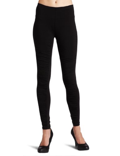 Kensie Girl Juniors Rouched Legging, Black, Small
