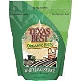 Texas Best Organics Organic Jasmine White Rice, 32 oz by Texas Best Organics