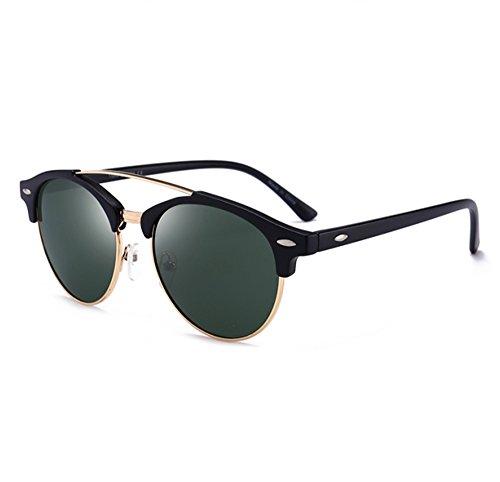 trame conduite voyage classique de Noir polarisées de classique Vert demi lunettes Hellomiko la lunettes aviateur par Mat éblouissent soleil 07FcZpBx