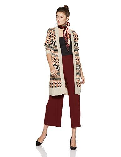 Pattern Moonbeam Multicolore Vero Gilet LS Femme Cardigan Oversize Vmlian DNM comb Moda qaAvz